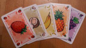 Die besten Gesellschaftsspiele : Fabelsaft Früchtekarten