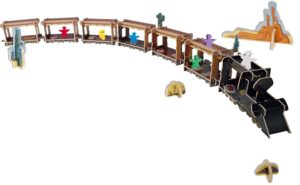 die besten Gesellschaftsspiele : Colt Express 3D Zug