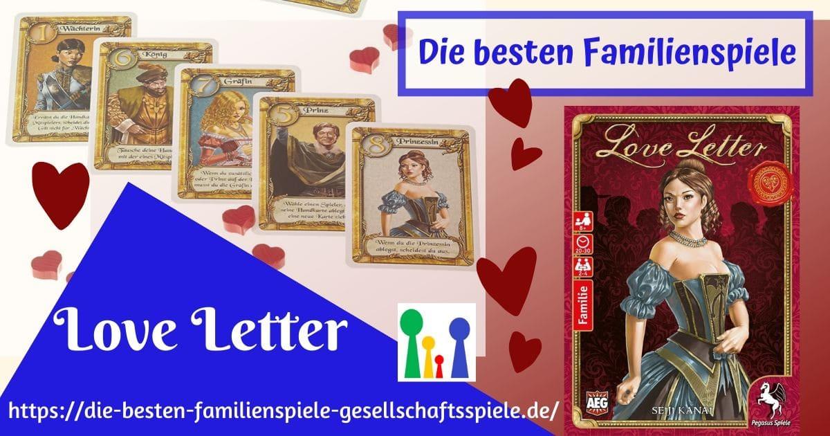 Love Letter - Familienspiel / Kartenspiel
