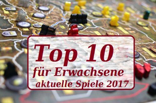 Top 10 Gesellschaftsspiele für Ewachsene 2017