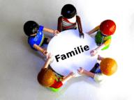Familienspiele am tisch