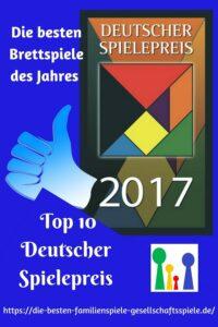 Deutscher Spielepreis 2017 - dei besten Brettspiele des Jahres