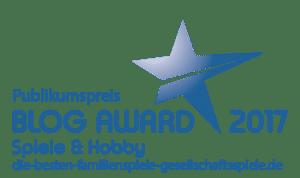 Blog Award 2017 Publikumspreis für die besten Familienspiele & Gesellschaftsspiele