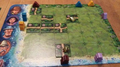 Karube spielen - Urwaldplättchen legen