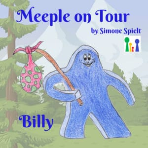 Meeple on Tour – Billy der blaue Wandermeeple