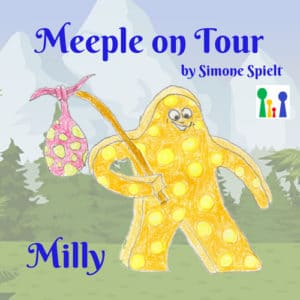 Meeple on Tour – Milly der gelb gepunktete Wandermeeple