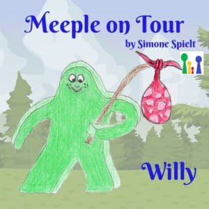 Meeple on Tour – Willy der grüne Wandermeeple