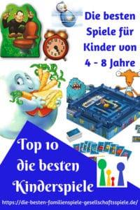 Top 10 - Die 10 besten Kinderspiele - von 4 bis 8 Jahre