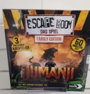Spiele Neuheiten der Spielwarenmesse 2019 - Escape Room das Spiel Family Edition Jumanji
