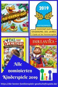 Kinderspiel des Jahres 2019 - alle nominierten Kinderspiele + Empfehlungsliste