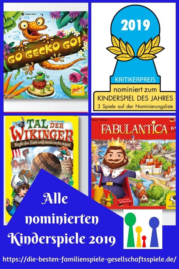 Kinderspiel des Jahres 2019 - die Nominierten