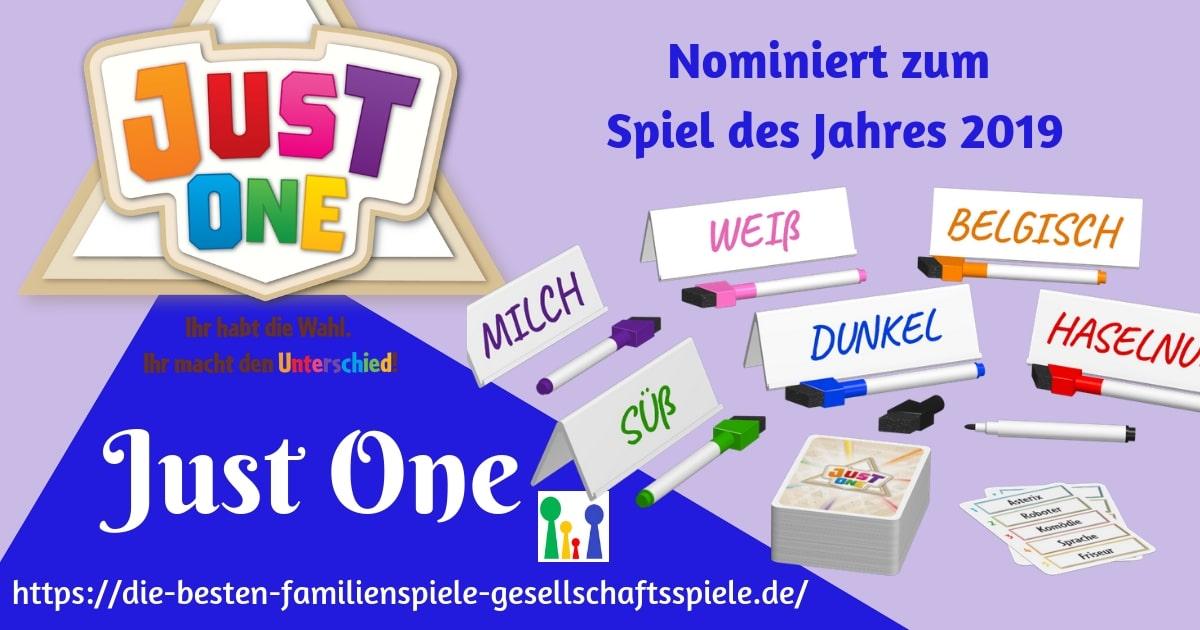 Just One - nominiert zum Spiel des Jahres 2019