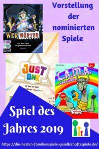 Spiel des Jahres 2019 - Vorstellung der nominierten Spiele