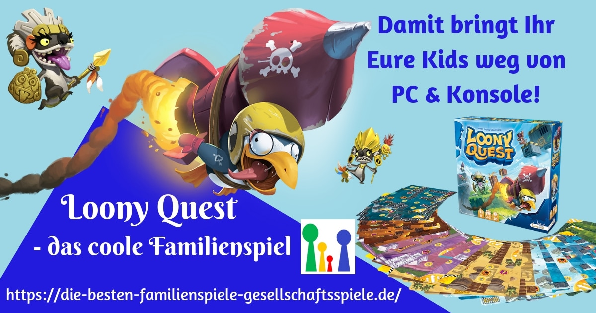 Loony Quest - lustiges FamilienspielF