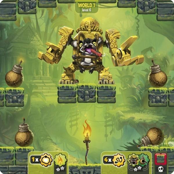 Loony Quest -Spielplan