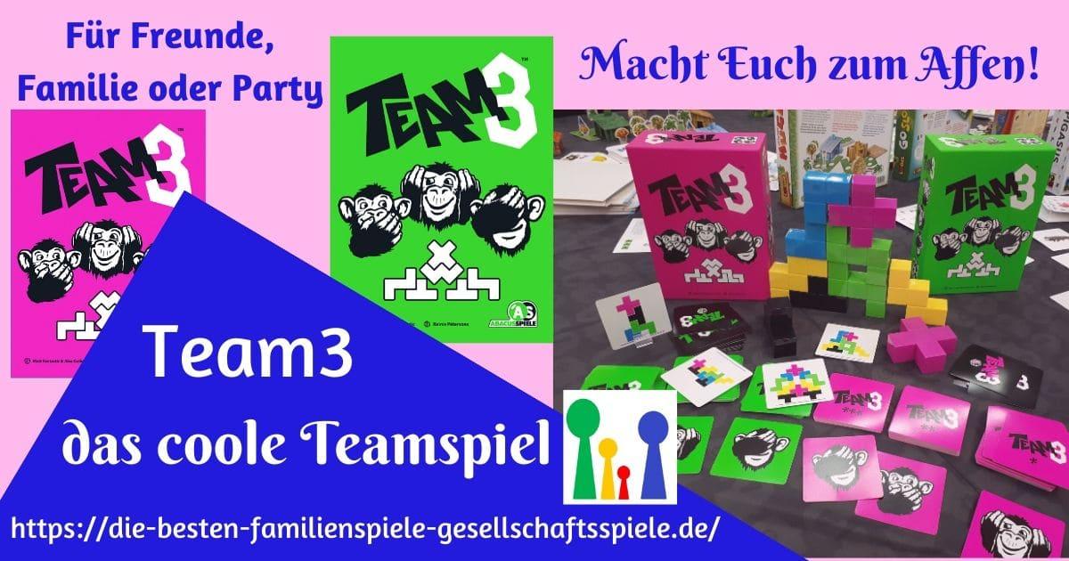 Team3 - das coole Teamspiel für Freunde, Famile und Party