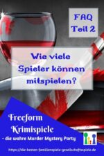 Freeform Krimiparty FAQ – Fragen zur Anzahl der Spieler