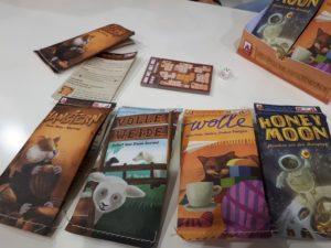 Nachhaltige Minispiele von NSV: Hamstern, Wolle, Volle Weide und Honey Moon