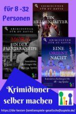Krimidinner selber machen – 3 neue Freeform Krimispiele auf Deutsch!