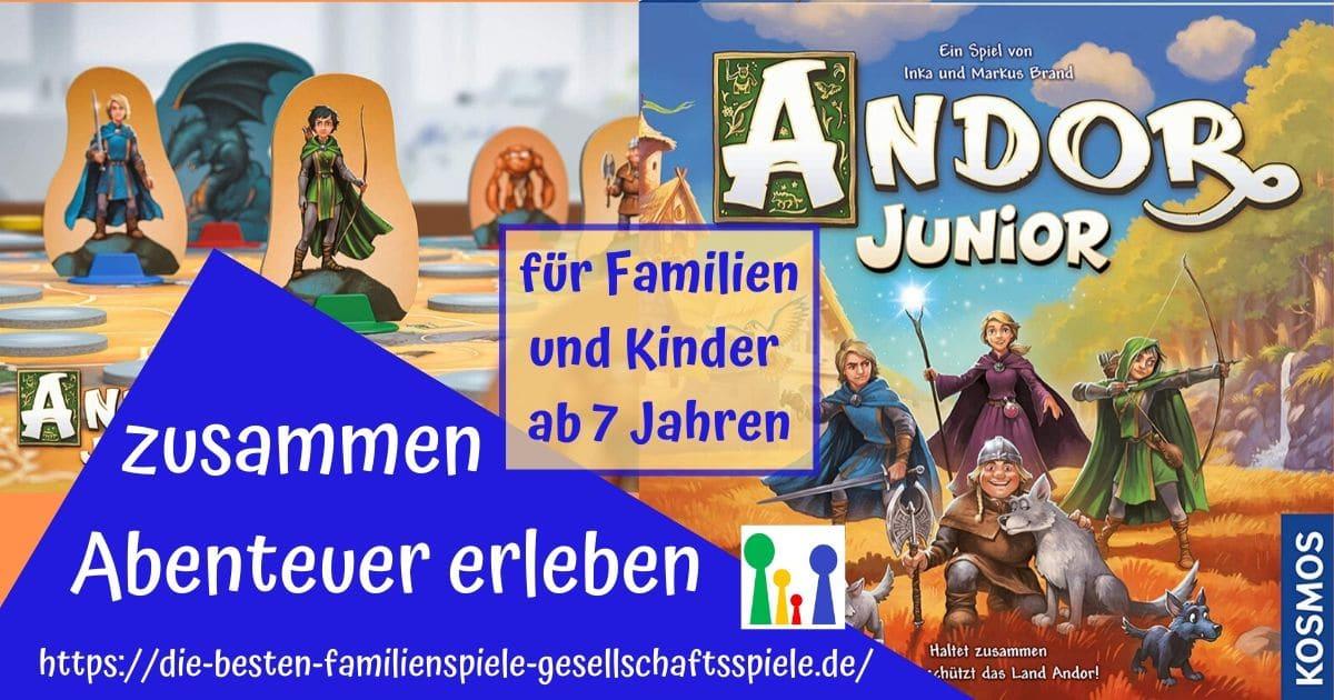 Andor Junior - ein Fantasy Abenteuer Brettspiele für Familien und Kunder ab 7 Jahre