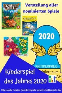 Kinderspiel des Jahres 2020 - Vorstellung der nominierten Kinderspiele