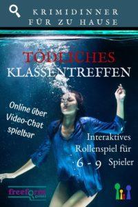 Tödliches Klassentreffen - Online Krimidinner über video Chat für 6 -9 Spieler ab 18 Jahre