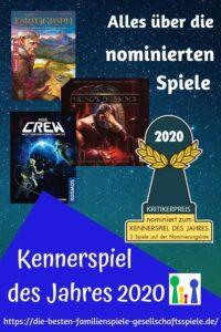 Kennerspiel des Jahres 2020 - Vorstellung der nominierten Spiele