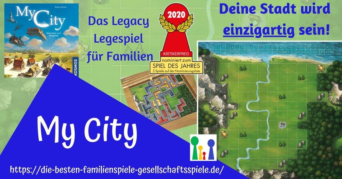 My City - nominiert zum Spiel des Jahres 2020 - Legacy Legespiel für Familien