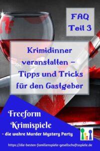 Krimidinner veranstalten - Tipps & Tricks für den Gastgeber