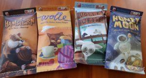Die MINNYs - Hamstern, Wolle, Volle Weide & Honey Moon - schnelle Würfelspiele für unterwegs