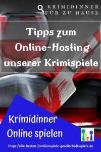 Krimidinner online spielen - Tipps zum Online Hosting unserer Krimispiele