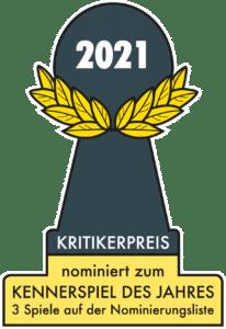 Nominiert zum Kennerspiel des Jahres 2021
