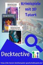 Decktective – kleine, kooperative Krimispiele mit 3D Tatort