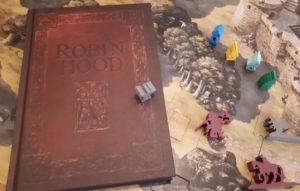 Die Abenteuer des Robin Hood - gebundenes Buch und hochwertige Holtfigurenlan