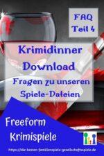 Krimidinner Download –  Fragen zu unseren Spiele-Dateien