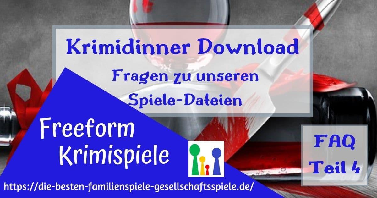 Krimidinner Download -FAQ4 Krimispiele für zuhause