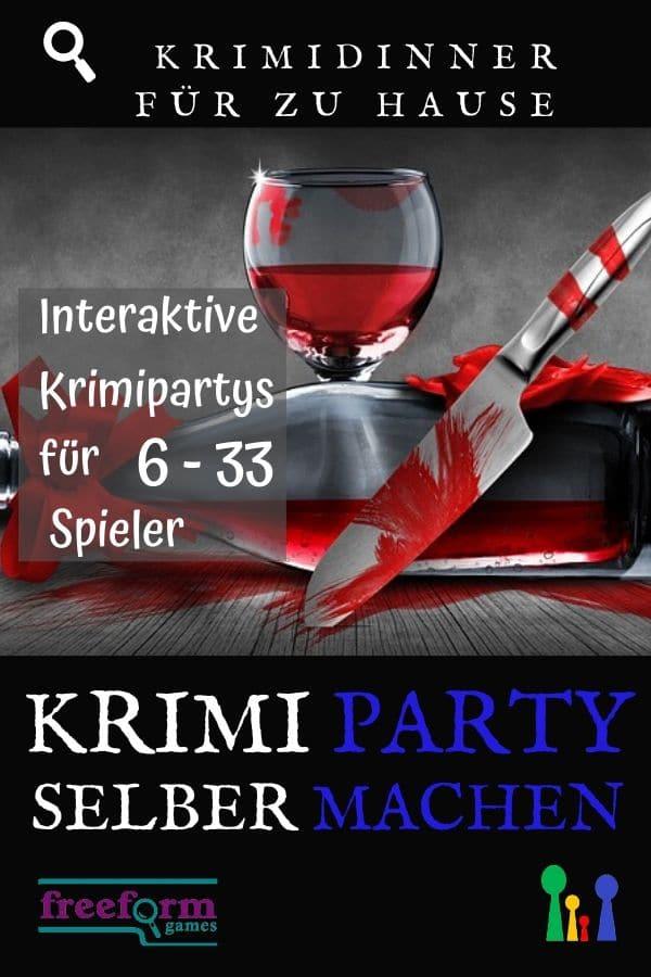 Deutsche Freeform Krimidinner - Krimiparty selbermachen