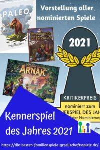 Kennerspiel des Jahres 2021: Kurze Vorstellung aller nominierten Spiele & Empfehlungsliste + persönliches Fazit by Simone Spielt