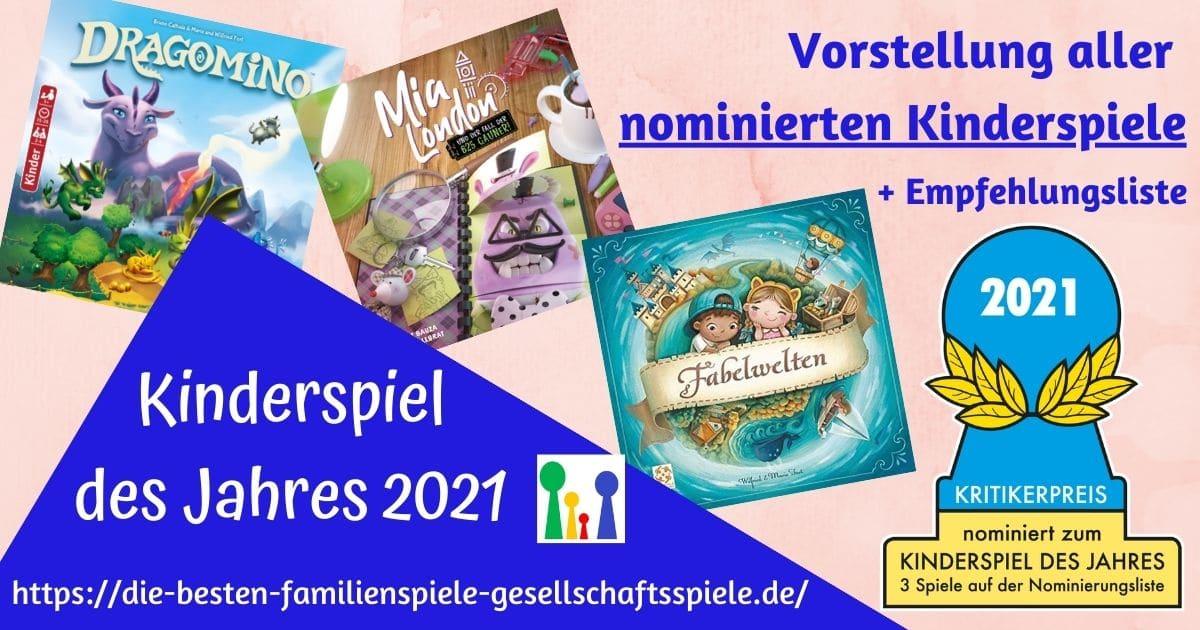 Kinderspiel des Jahres 2021 - Ale nominierten Spiele + Empfehlungsliste & persönliches Fazit by Simone Spielt