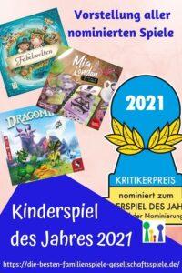 Kinderspiel des Jahres 2021 - die nominierten Spiele! Vorstelleng + persönliches Fazit by Simone Spielt