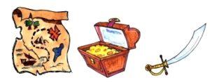 Gruppenspiel Die Pirateninsel - Gegenstände
