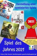 Spiel des Jahres 2021 – Vorstellung der nominierten Gesellschaftsspiele!