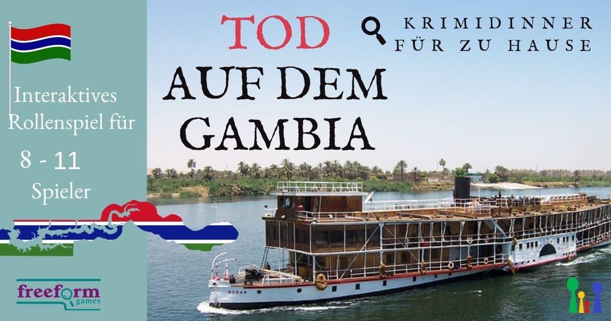 Tod auf dem Gambia - Freeform Krimidinner für 8 -11 Spieler