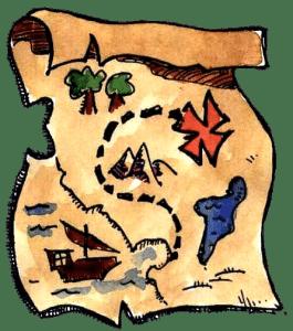 Gruppenspiel Die Pirateninsel - Schatzkarte